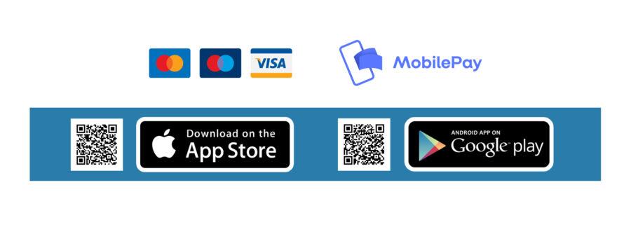 Betalingsapp - Kreditkort og Mobilepay
